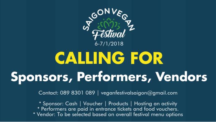Calling for Sponsor Performer Vendor